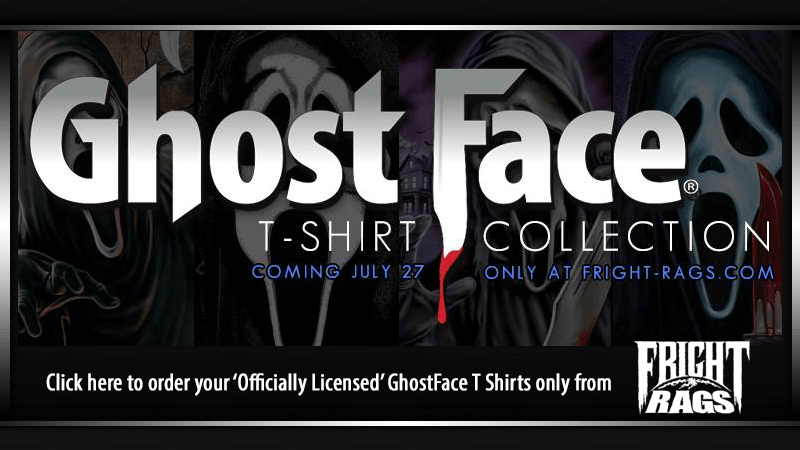 GhostFace T-Shirts from Fright Rags!
