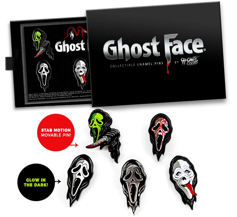 Order your GhostFace Enamel Pins HERE