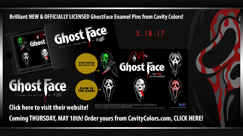 GhostFace Enamel Pins from Cavity Colors