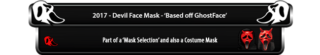 Devil Face Mask 2017