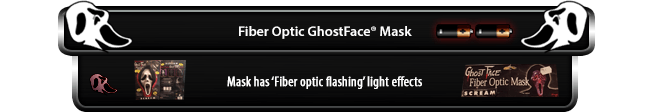 Fiber Optic GhostFace Mask