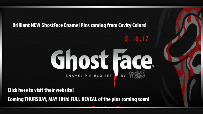 Cavity Colors GhostFace Enamel Pins Set