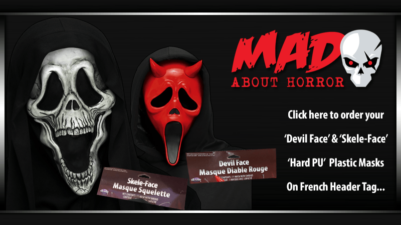 Mad About Horror Skele-Face and Devil Face Masks
