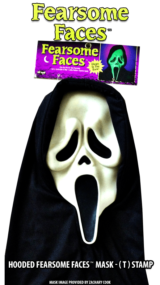 Hooded Fearsome Faces T Stamp GhostFace Mask