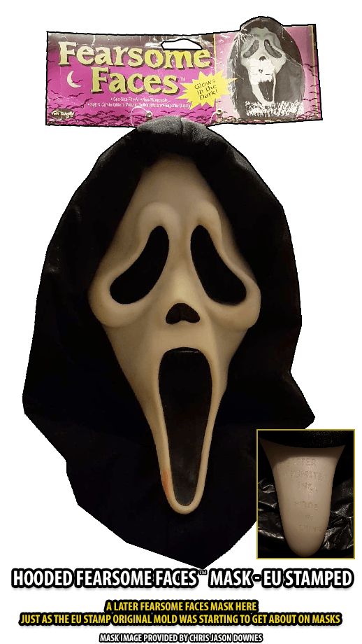 Hooded Fearsome Faces EU stamp GhostFace Mask