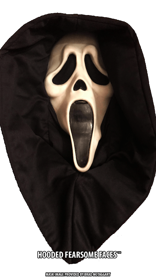 Hooded Fearsome Faces GhostFace mask