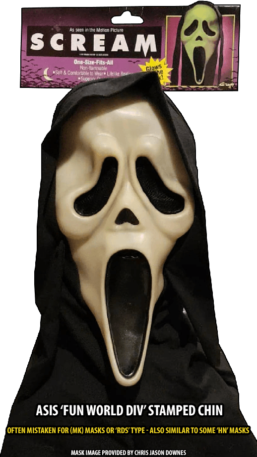 ASIS GhostFace Mask Fun World Div Stamp