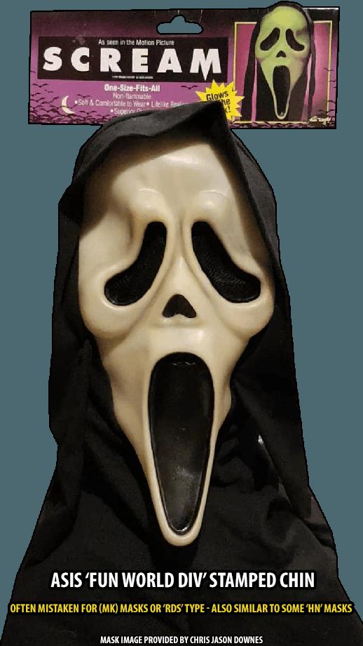 ASIS GhostFace Mask Fun World Div Stamp