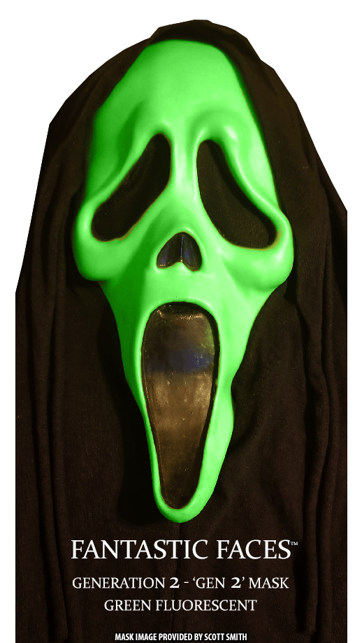Fantastic Faces Green Fluorescent Gen 2 GhostFace