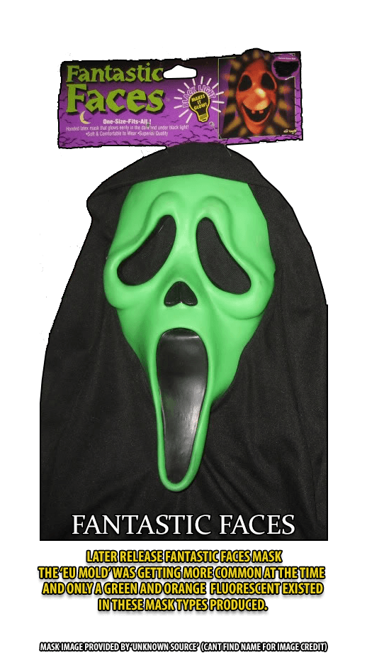 Later Release Fantastic Faces GhostFace Mask Purple Tag