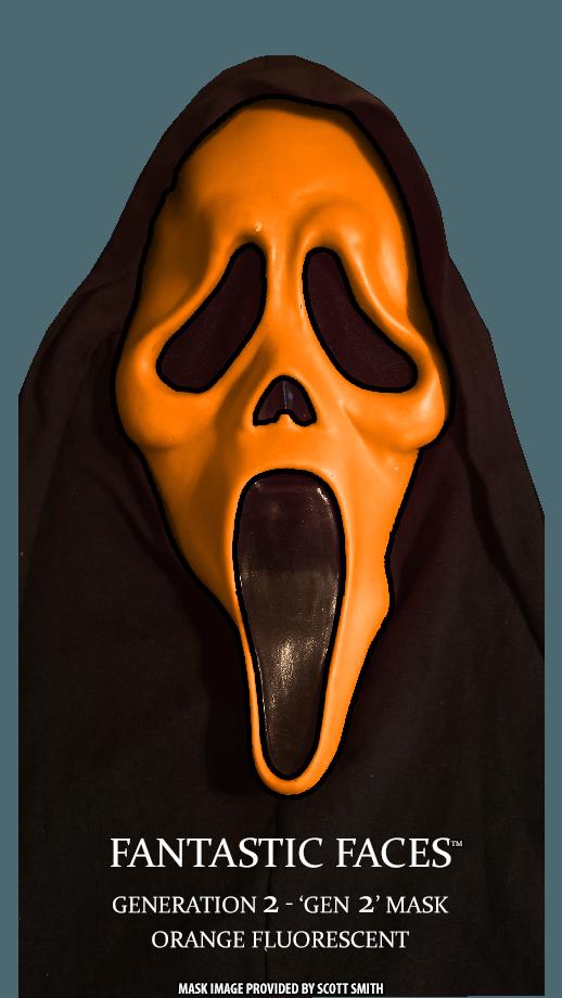 Fantastic Faces Orange Fluorescent Gen 2 GhostFace
