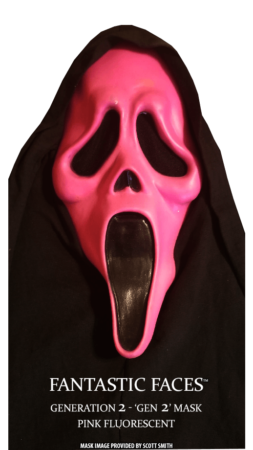 Fantastic Faces Pink Fluorescent Gen 2 GhostFace