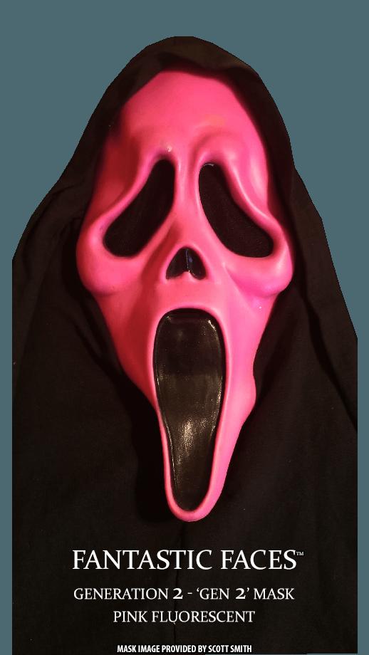 Fantastic Faces Pink Fluorescent Gen 2 GhostFace