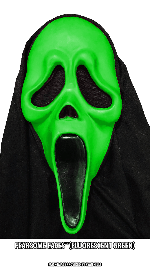 Fluorescent Green Fearsome Faces GhostFace