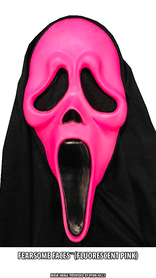 Fluorescent Pink Fearsome Faces GhostFace
