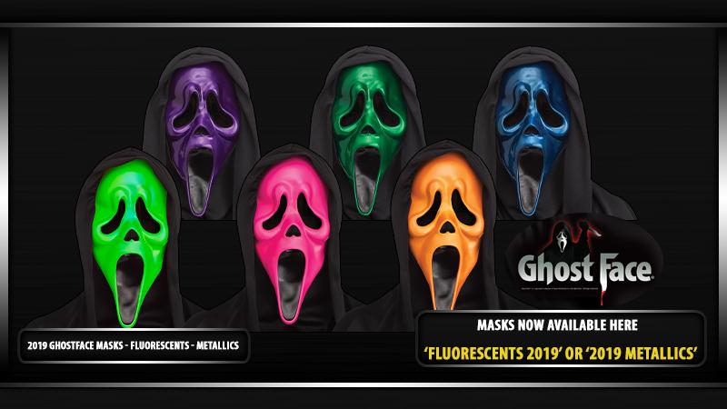 2019 GhostFace Masks Fluorescent and Metallic