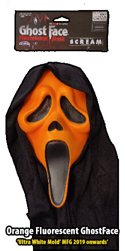 2019 Orange GhostFace Fluorescent Mask