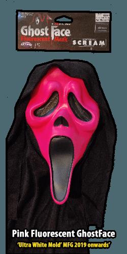 2019 Pink GhostFace Fluorescent Mask