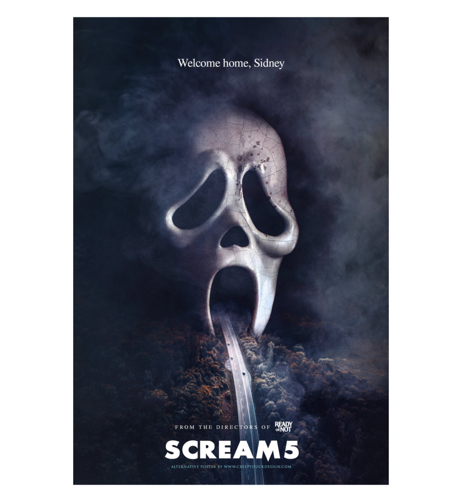 Scream 5 Fan Poster Crazy Duck