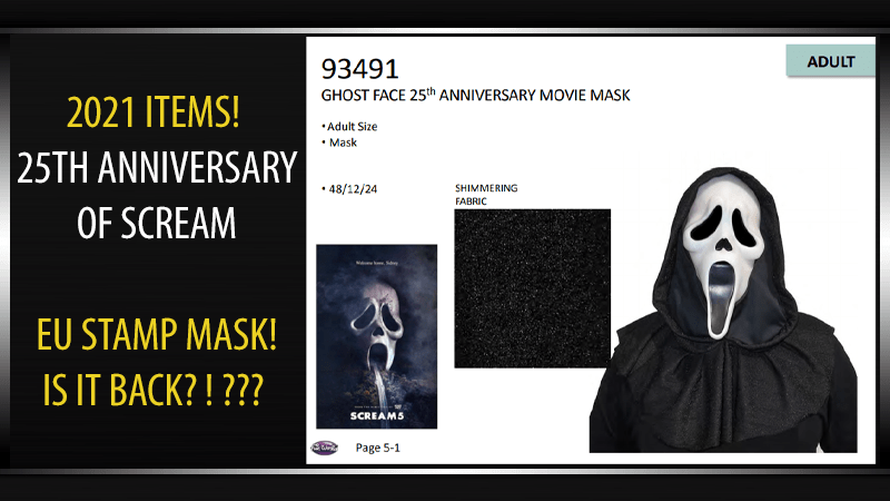 2021 Merchandise - 25th Anniversary of SCREAM